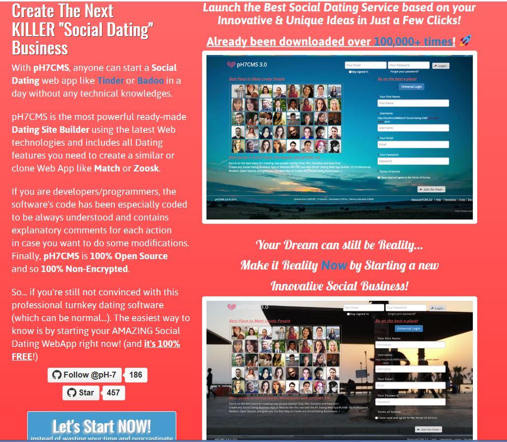 besplatno preuzimanje web stranice za upoznavanja